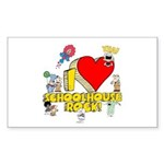 I Heart Schoolhouse Rock! Sticker (Rectangle)