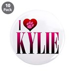 "I Heart Kylie 3.5"" Button (10 pack)"