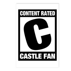 Content Rated C: Castle Fan Postcards (Package of 8)