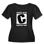 Content Rated C: Castle Fan Women's Plus Size Scoop Neck Dark T-Shirt