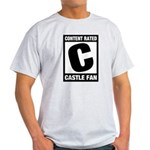 Content Rated C: Castle Fan Light T-Shirt