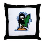 Penguin with Tree Throw Pillow