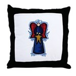 Angel with Star Throw Pillow