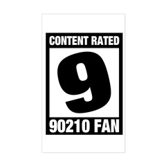 Content Rated 9: 90210 Fan Sticker (Rectangle)