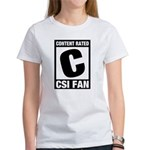 Content Rated C: CSI Fan Women's T-Shirt
