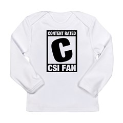 Content Rated C: CSI Fan Long Sleeve Infant T-Shirt