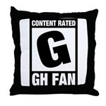 Content Rated G: General Hospital Fan Throw Pillow