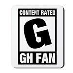 Content Rated G: General Hospital Fan Mousepad