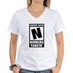 Content Rated N: Numb3rs Fan Women's V-Neck T-Shirt