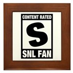 Content Rated S: SNL Fan Framed Tile