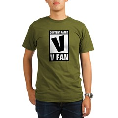 Content Rated V: V Fan Organic Men's T-Shirt (dark)