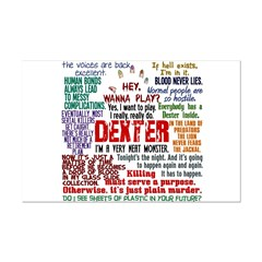 Dexter Quotes Collage Mini Poster Print