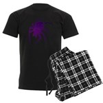Purple Spider Men's Dark Pajamas