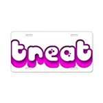 Retro Treat Aluminum License Plate