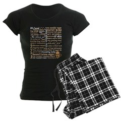 Shakespeare Insults T-shirts & Gifts Women's Dark Pajamas