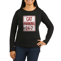 Cat Parking Women's Long Sleeve Dark T-Shirt