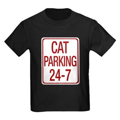 Cat Parking Kids Dark T-Shirt