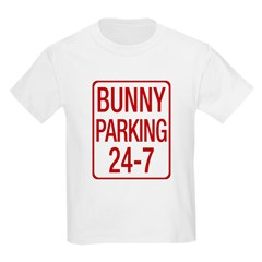 Bunny Parking Kids Light T-Shirt