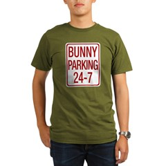 Bunny Parking Organic Men's T-Shirt (dark)