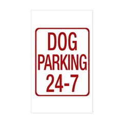 Dog Parking Sticker (Rectangle)