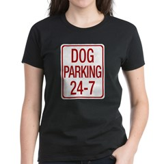 Dog Parking Women's Dark T-Shirt