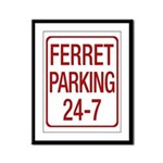 Ferret Parking Framed Panel Print