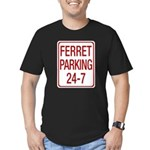 Ferret Parking Men's Fitted T-Shirt (dark)