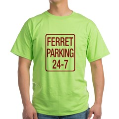 Ferret Parking Green T-Shirt