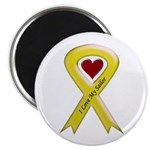 I love my Sailor - Yellow Ribbon Magnet