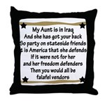 My Aunt Has Got Your Back Throw Pillow