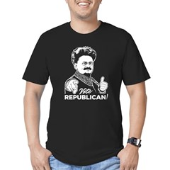 Trotsky Vote Republican Men's Fitted T-Shirt (dark