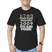 Presidential Firsts Men's Fitted T-Shirt (dark)