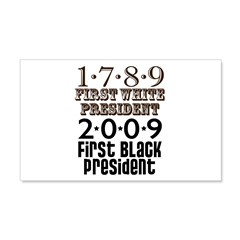 US Firsts: 1789-2009 20x12 Wall Decal
