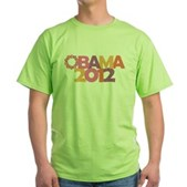 Obama Flowers 2012 Green T-Shirt