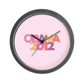 Obama Flowers 2012 Wall Clock
