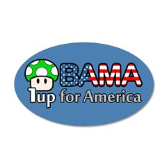 Obama 1up for America 20x12 Oval Wall Decal