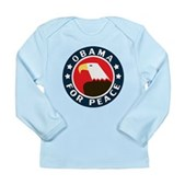 Obama For Peace Long Sleeve Infant T-Shirt