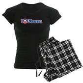 I Love Obama Women's Dark Pajamas