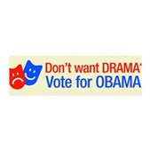 Vote Obama: No Drama! 42x14 Wall Peel