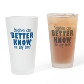 Stephen Can Better Know Me Pint Glass