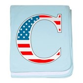 C stands for Colbert baby blanket