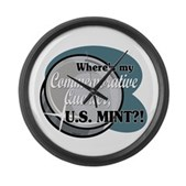 Where's My Quarter? Large Wall Clock