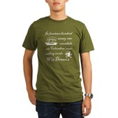 1492 on the Wet Dream 2 Organic Men's T-Shirt (dar