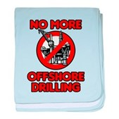No More Offshore Drilling baby blanket