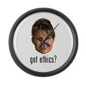 Anti-Palin Got Ethics? Large Wall Clock