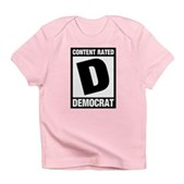 Content Rated Democrat Infant T-Shirt
