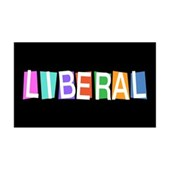 Colorful Retro Liberal 38.5 x 24.5 Wall Peel