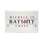 Michele is Batshit Crazy Rectangle Magnet