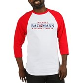 Anti-Bachmann Irony Baseball Jersey