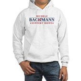 Anti-Bachmann Irony Hooded Sweatshirt